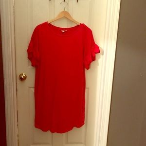 Gap large red dress with decorative sleeves